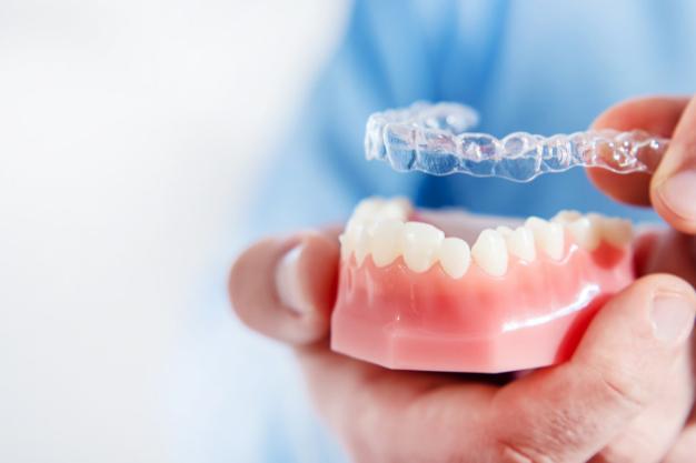 invisalign new orthodontic treatment concept